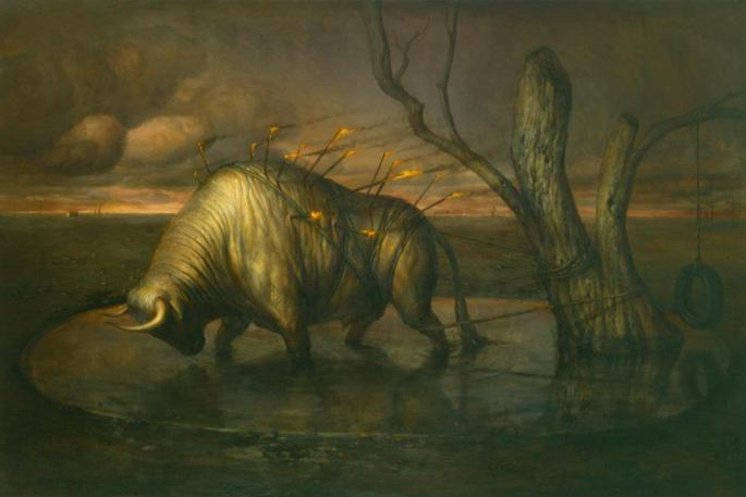 Martin-Wittfooth-Liked-·-March-18-Sebastian-48-x-72-Oil-on-canvas-2011-For-The-Passions-solo-exhibition-in-October-2011-at-Lyons-Wier-Gallery-New-York-City