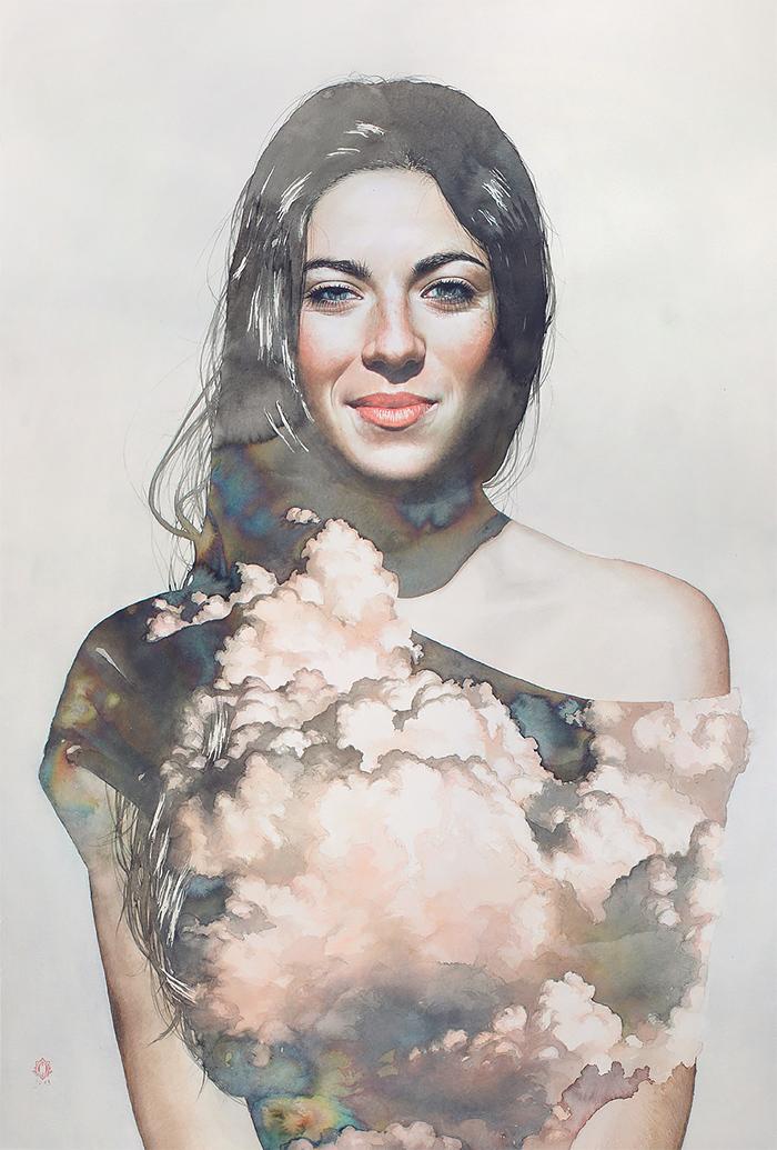 Blendscapes by Oriol Angrill Jorda, drawing, landscape,woman,portait, flowartstation,
