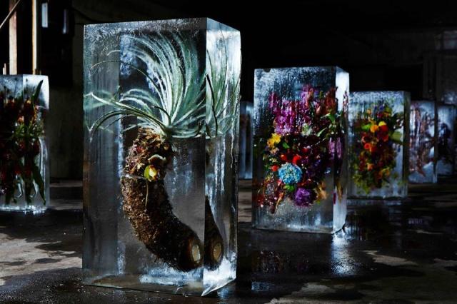 Flower-Bouquets-Frozen-in-Blocks-of-Ice-by-Makoto-Azuma-Yellowtrace-10