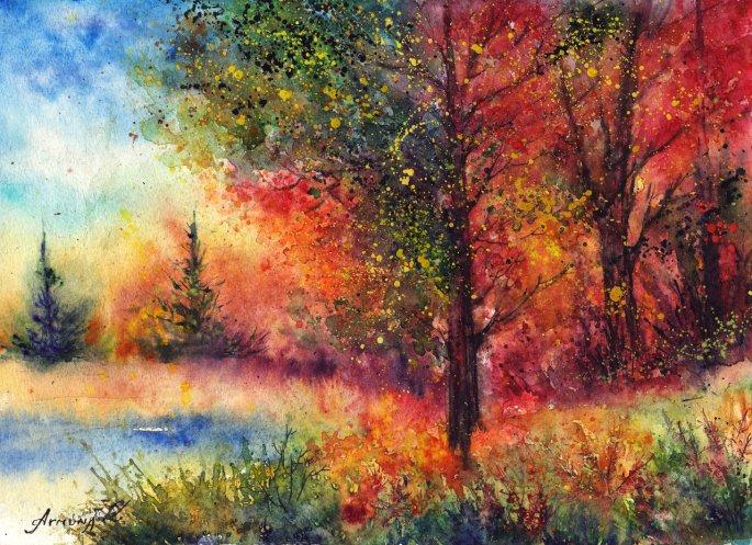 autumn_evening_by_annaarmona-d6n72v4