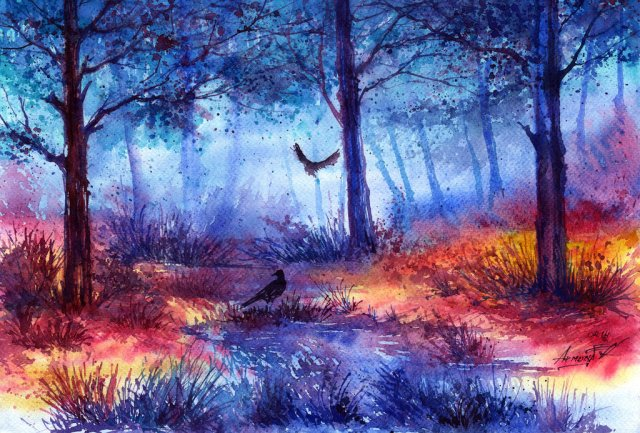 mysterious_forest_by_annaarmona-d7fbri5