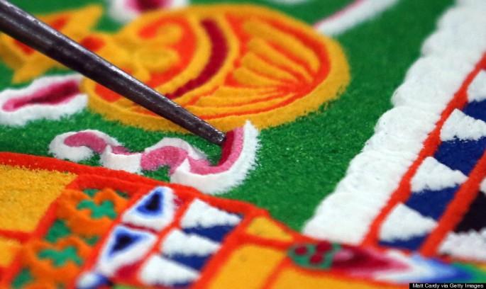 Tibetan Monks Take Part Salisbury International Arts Festival