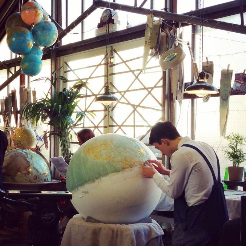 Halfmade World - One Of The World's Last Remaining Globe-Makers That Use The Ancient Art Of Making Globes By Hand