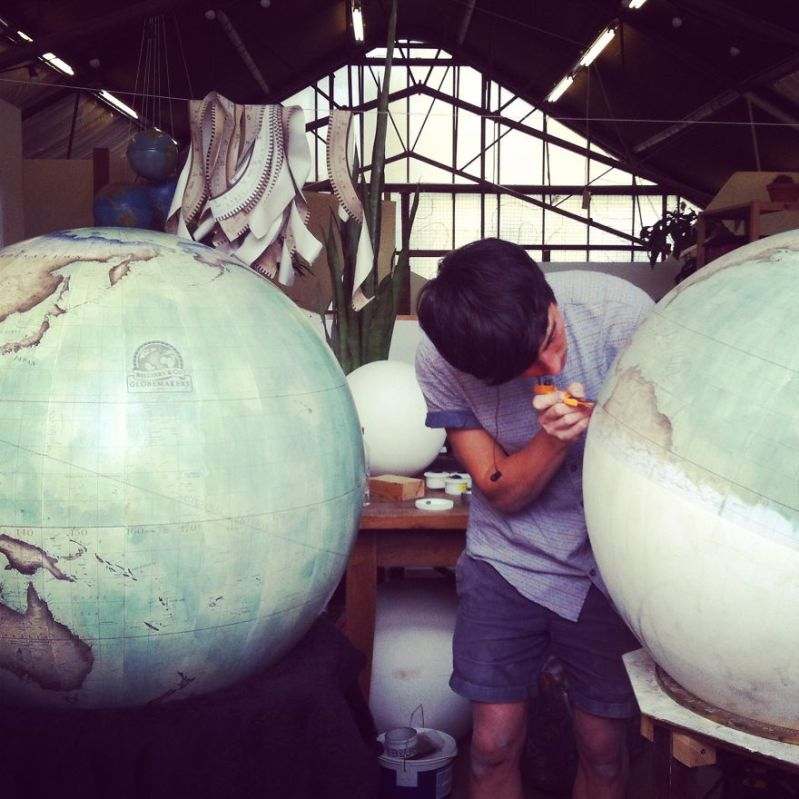 Multitasking - One Of The World's Last Remaining Globe-Makers That Use The Ancient Art Of Making Globes By Hand