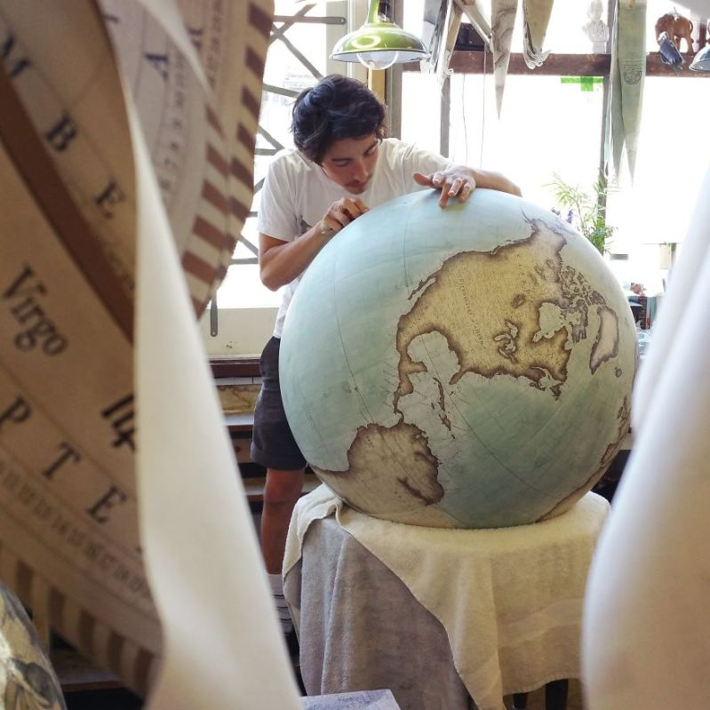 Peter hopes his skills can be passed down within his family - One Of The World's Last Remaining Globe-Makers That Use The Ancient Art Of Making Globes By Hand