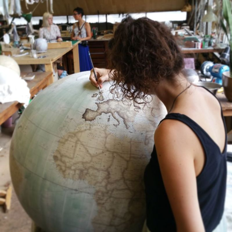 Painting Scotland - One Of The World's Last Remaining Globe-Makers That Use The Ancient Art Of Making Globes By Hand