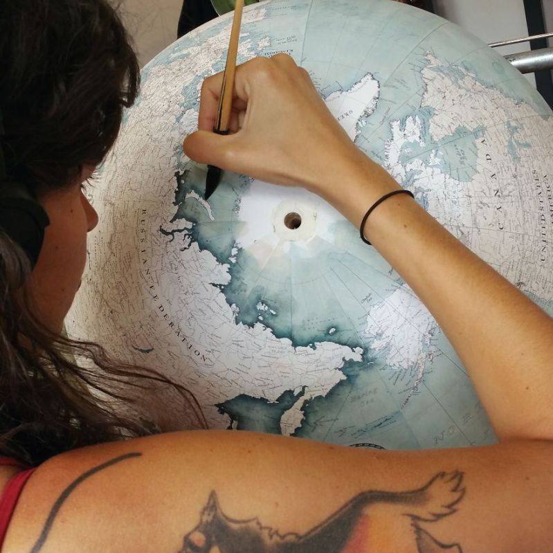 It takes each new team member at least 6 months of practising and learning to make a globe - One Of The World's Last Remaining Globe-Makers That Use The Ancient Art Of Making Globes By Hand