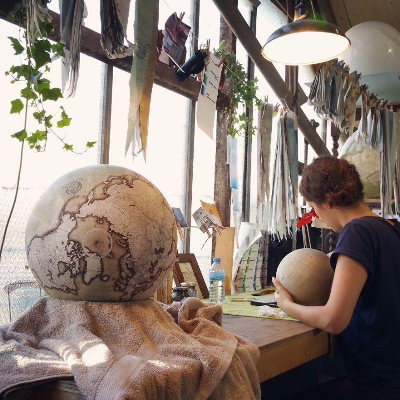 Painting the World - One Of The World's Last Remaining Globe-Makers That Use The Ancient Art Of Making Globes By Hand