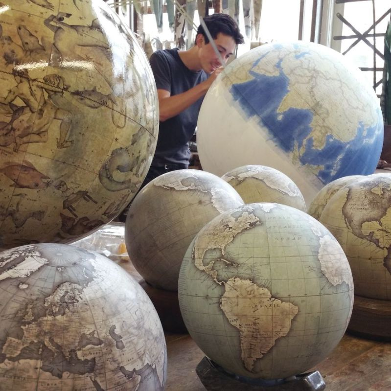 What does it take to be a globemaker? Incredible amount of patience and the ability to re-train your body - One Of The World's Last Remaining Globe-Makers That Use The Ancient Art Of Making Globes By Hand
