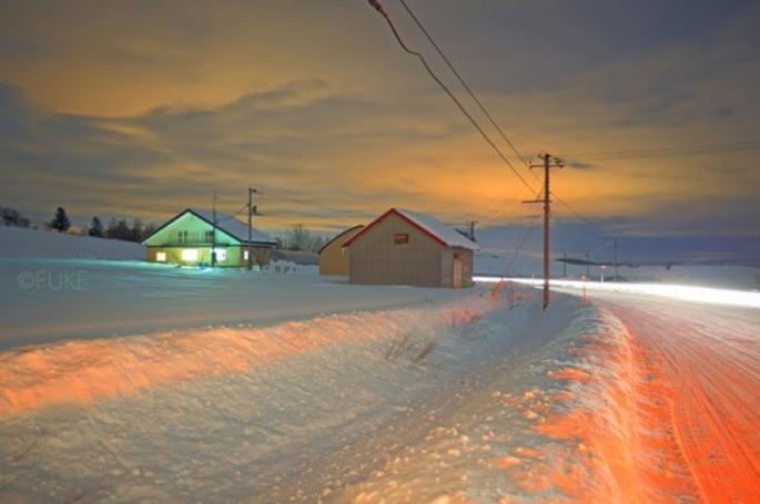 colored snow hokkaido 2009-2