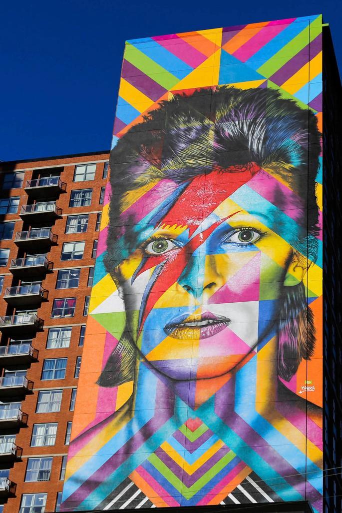 David Bowie Mural by Eduardo Kobra