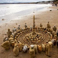 Land Artist James Brunt use the earth as a canvas