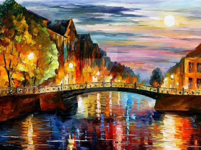 over_the_bridge_by_leonid_afremov_by_leonidafremov-d4ki80n