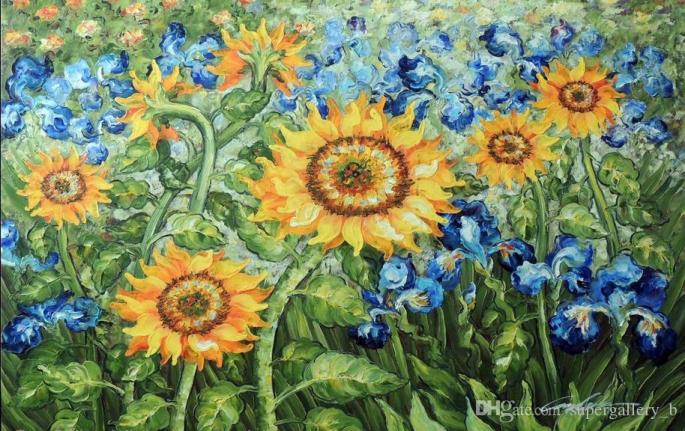 van-gogh-golden-tournesol-bleu-iris-jardin