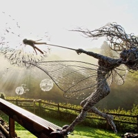 Robin Wight Creates Mystical Fairy Wire Sculptures