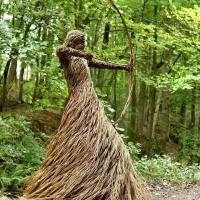 Life-Size Woven Sculptures Into The Forests by Anna & the Willow